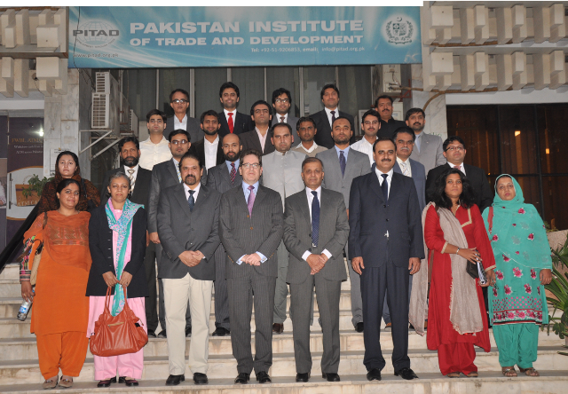 Training participants with the Chief Guest, Mr. Pierre Mayaudon, Deputy Ambassador, EU Delegation to Pakistan