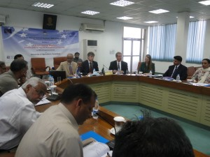 EU Ambassador being briefed VC - Canadian HC seated next to HoD