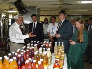 HoD at NIFSAT juice processing unit