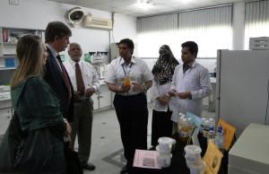 HoD visiting  NIFSAT labs
