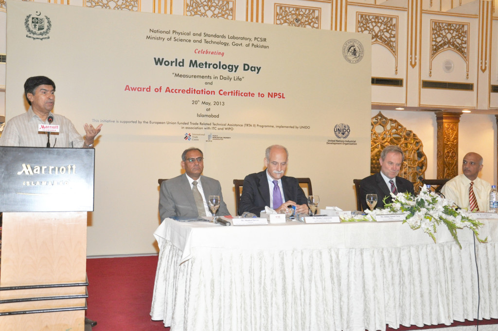 Mr Akhlaq Ahmad Tarar, Secretray MOST at the World Metrology Day