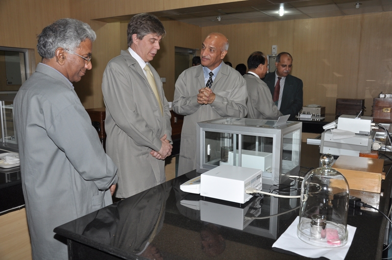 H.E. Lars-Gunnar Wigemark, Ambassador of the European Union to Pakistan during the visit to the Metrology Labs at NPSL, Islamabad