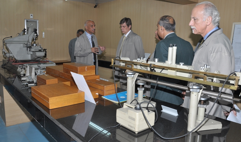 H.E. Lars-Gunnar Wigemark, Ambassador of the European Union to Pakistan briefed by Mr. Shaheen raja, Director General NPSL about the Metrology Labs