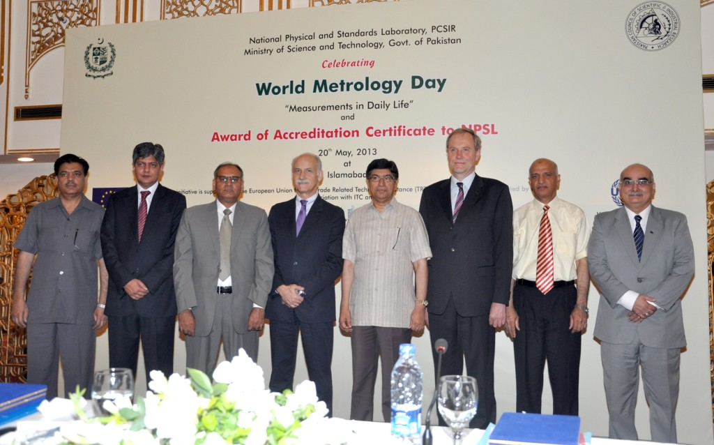 Honourable guests at the World Metrology Day and Award of Accreditation Certificate to NPSL