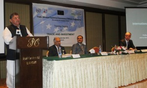 Mr. Hamid Malhi, President, Basmati Growers Association addressing at the training in Lahore