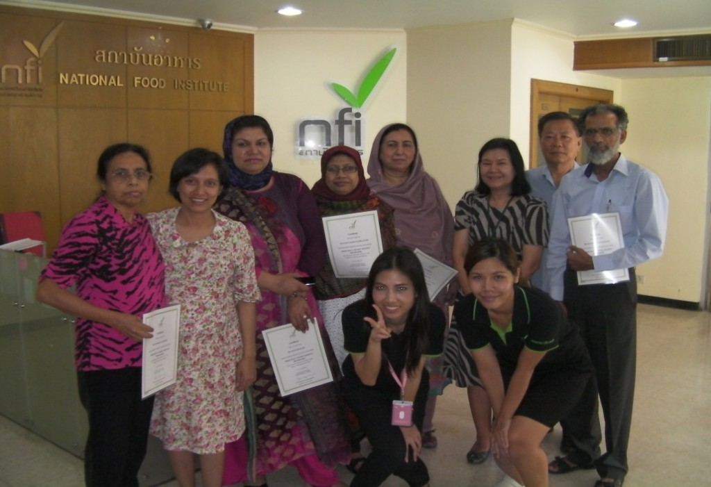 National PT Team and TRTA II IE Ms. Jayasinghe (far left) with the instructors from NFI, Bangkok