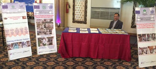 TRTA II stall at WFD-2014 manned by Mr. Zafar Imam of the MFD