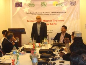 Mr. Bashir Hussain, CEO PHDEC, addressing the trainees in Kinnow sector