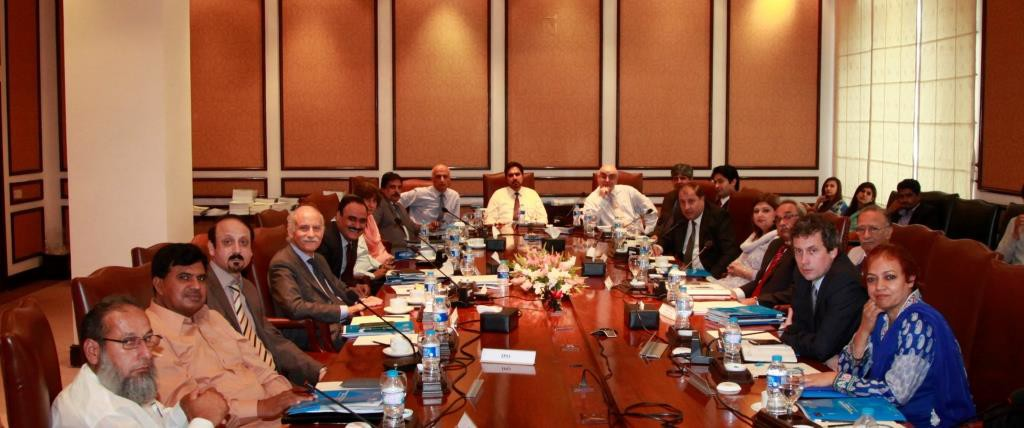 Participants of the Program Steering Committee from the TRTA II programme and the EU delegation to Pakistan.