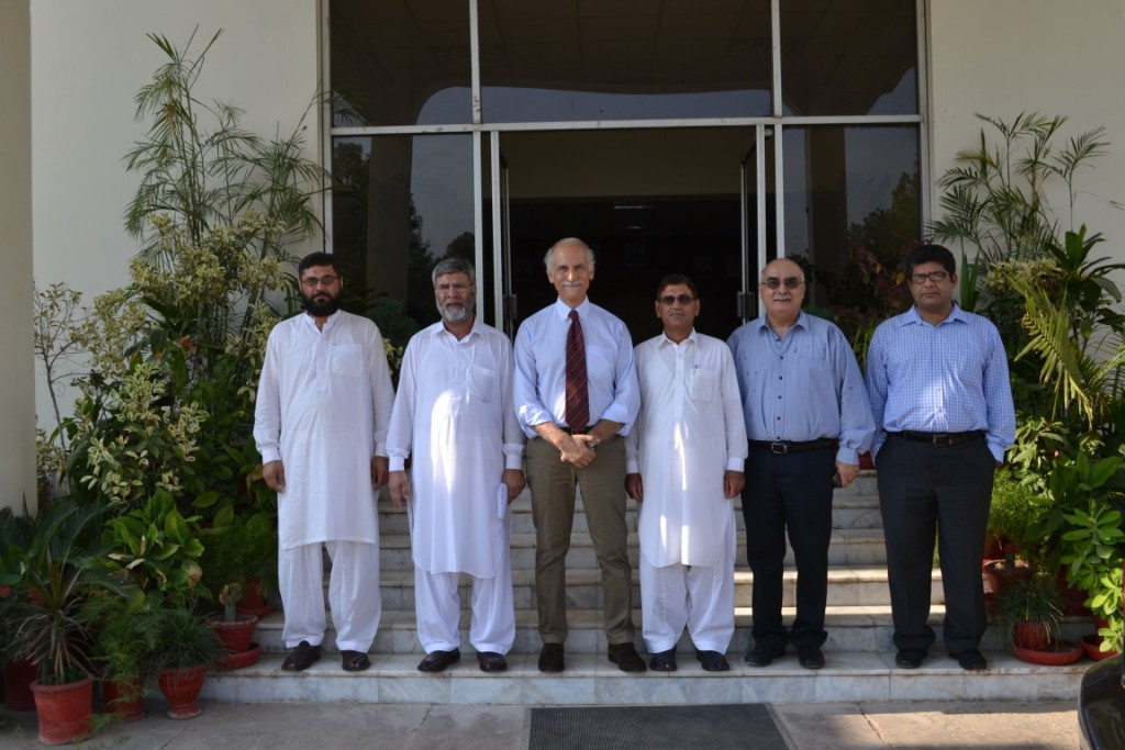 Bruno Valanzuolo with Dr. Shah Alam, DG PCSIR Peshawar and Quality Manager, Faridullah Khan