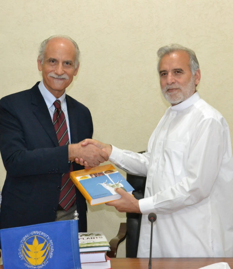 Handing over of reference textbooks