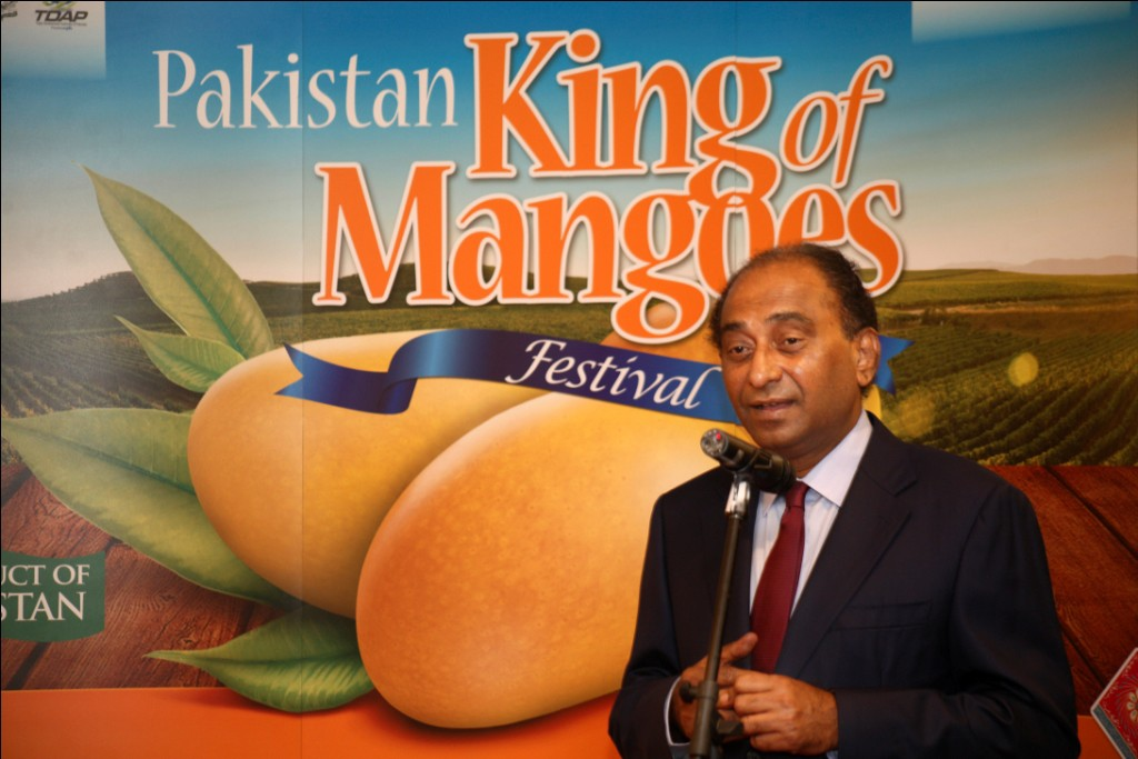 Syed Hassan Raza, the Pakistan High Commissioner to Malaysia officially launching the Pakistan King of Mangoes Festival in Kuala Lumpur