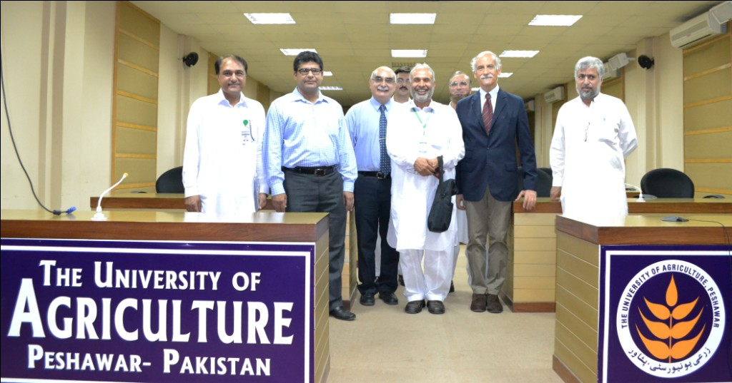 TRTA II PMO staff with Prof. Dr. Alam Zeb, Chairman Dept of Food Science & Technology