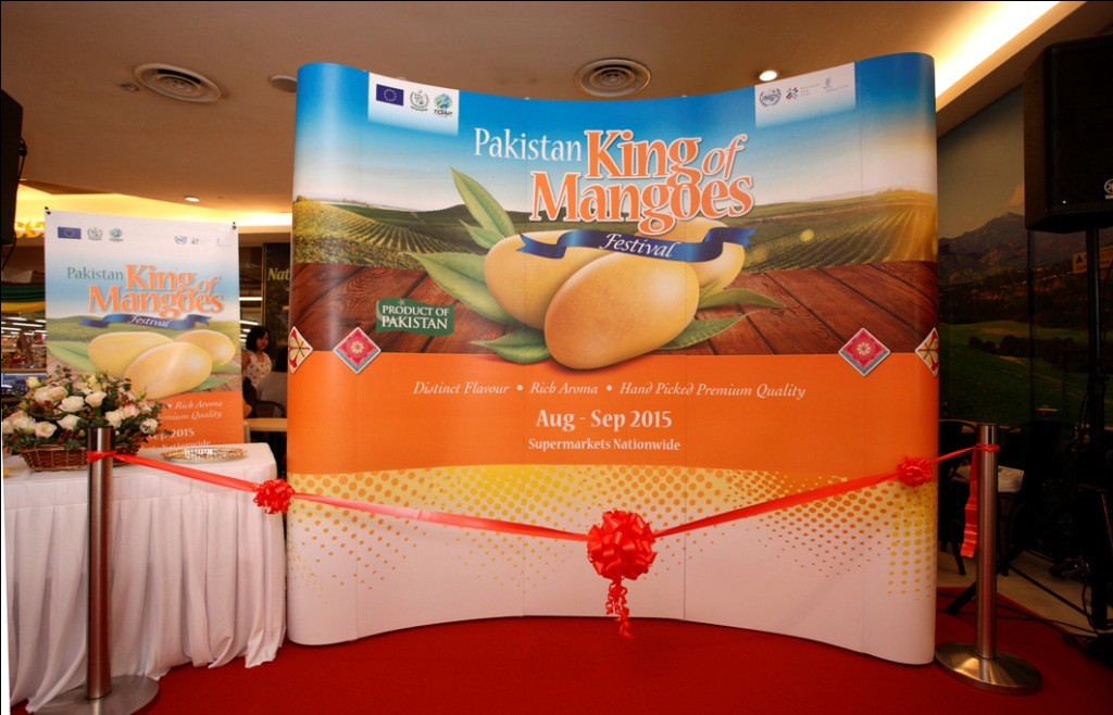 The Pakistan King of Mangoes Festival launch pavilion at the Sunway Giza mall in Kuala Lumpur, Malaysia