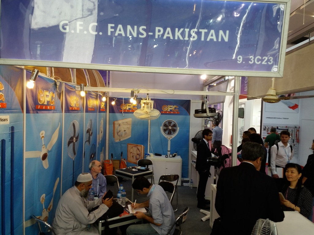 GFC Fans Booth at Canton Fair China